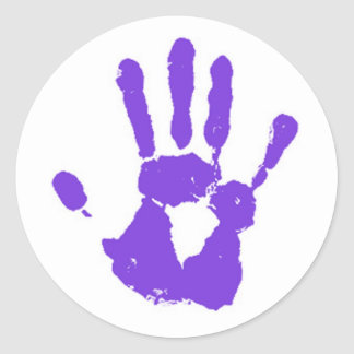 The Purple Hand Classic Round Sticker