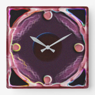 The Purple Painter Square Wall Clock