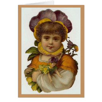 The Purple Pansy Flower Nature Fairy Card