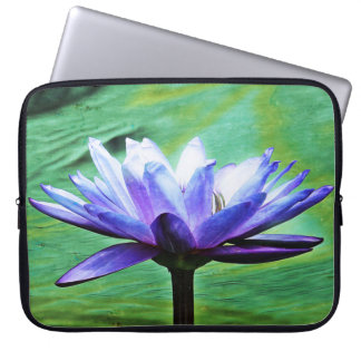 The Purple Water Lily Laptop Sleeve