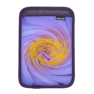 The Purple Water Lily Twirl Design iPad Mini Sleeve
