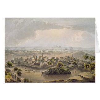 The Pyramids at Cairo, engraved by Daniel Havell ( Card