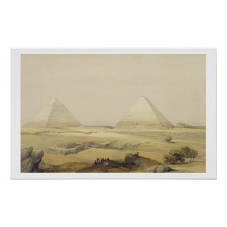 """The Pyramids of Giza, from """"Egypt and Nubia"""", Vol. Poster"""