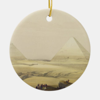 """The Pyramids of Giza, from """"Egypt and Nubia"""", Vol. Round Ceramic Ornament"""