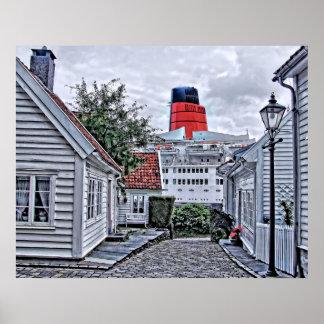 The QE2 at Stavanger Poster