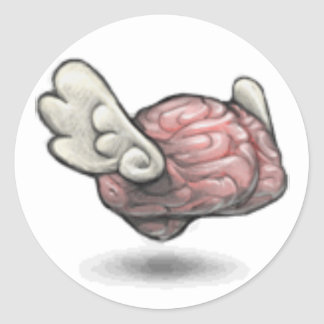 The Qiqqa Brain! Classic Round Sticker