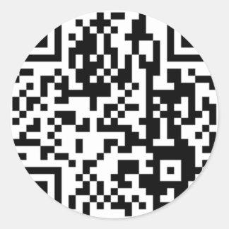 The QR Code Classic Round Sticker