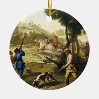 The Quail Hunting Francisco José Goya masterpiece Ceramic Ornament