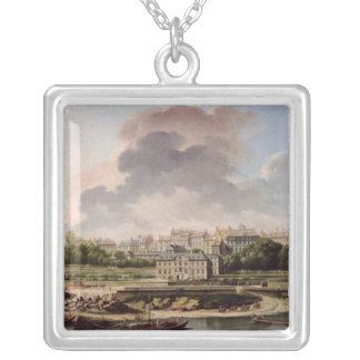The Quay and Village of Passy in 1757 Silver Plated Necklace