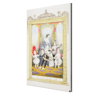 The Queen and Prince Albert at Home Gallery Wrap Canvas