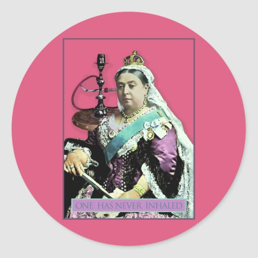 The Queen and The Hookah Sticker
