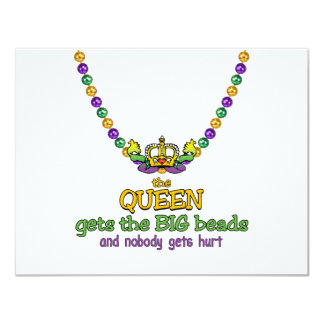 The Queen gets the BIG beads Card