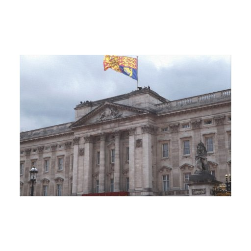The Queen is home.  Buckingham Palace Stretched Canvas Prints