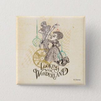 The Queen & Mad Hatter | Looking for Wonderland 2 Inch Square Button