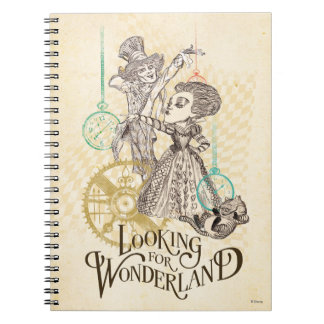The Queen & Mad Hatter | Looking for Wonderland Spiral Note Book