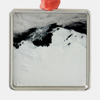 The Queen Mary Coast of Antarctica Silver-Colored Square Ornament