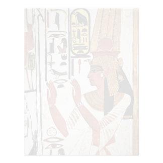 The Queen Nefertari In Prayer Stance By Maler Der Customized Letterhead