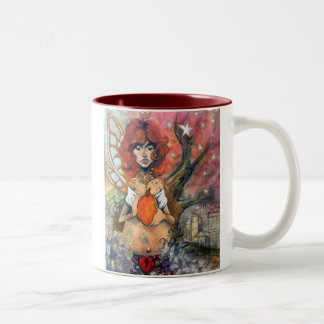The Queen of Autumn Two-Tone Coffee Mug