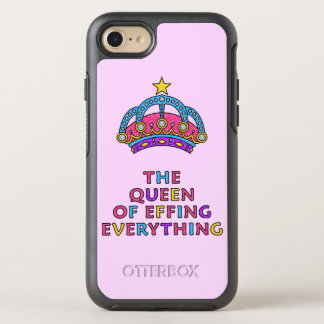 The Queen of Effing Everything Pink Glitter OtterBox Symmetry iPhone 8/7 Case