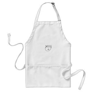 The Queen of England Drawing by Han Standard Apron