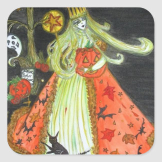 The Queen of Halloween Stickers