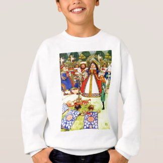 The Queen of Hearts and Alice in Wonderland Sweatshirt