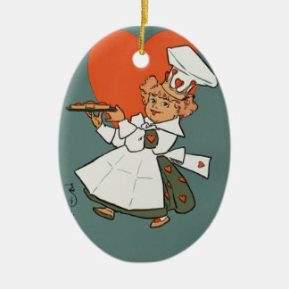 The Queen Of Hearts Ceramic Oval Ornament