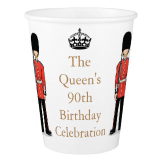 The Queen's 90th Birthday Celebration Paper Cup