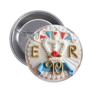 The Queen's 90th Birthday Celebrations Badge 2 Inch Round Button
