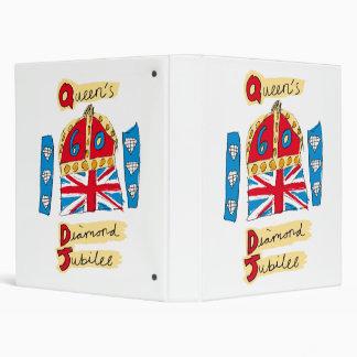 The Queen's Diamond Jubilee Emblem 3 Ring Binders