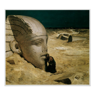 The Questioner of the Sphinx, 1863 Poster