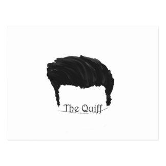 The quiff post card