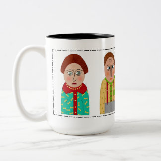 The Quirky Folk Two-Tone Coffee Mug