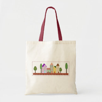 """""""The Quirky Village"""" Tote Bag"""