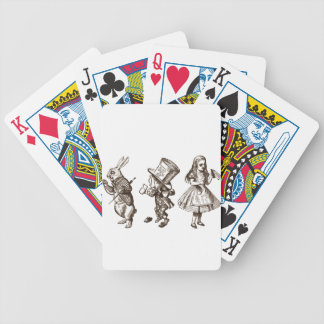 The Rabbit, the Hatter & Alice from Wonderland Bicycle Playing Cards