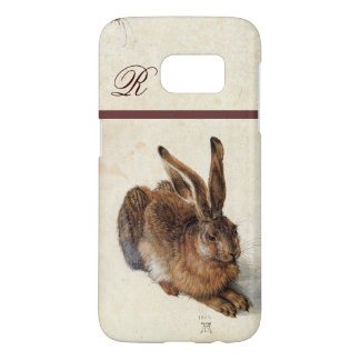 THE RABBIT ( Young Hare )  Monogram Samsung Galaxy S7 Case