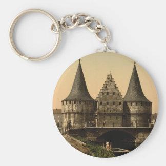 The Rabot Gate, Ghent, Belgium Keychain