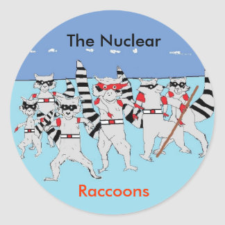 the raccoons, Untitled, bule c, The Nuclear, Ra... Classic Round Sticker