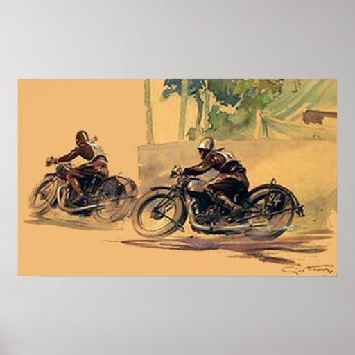 The Race Art deco retro vintage poster