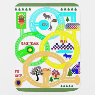 The Race is on - Map - Baby Blanket