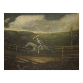 The Race Track Or Death On A Pale Horse Postcard