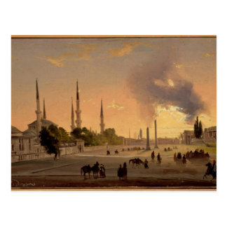 The Racecourse at Constantinople (oil on canvas) Postcard