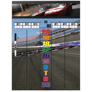 The Racing Fan's Darts Scoreboard Dry Erase Board