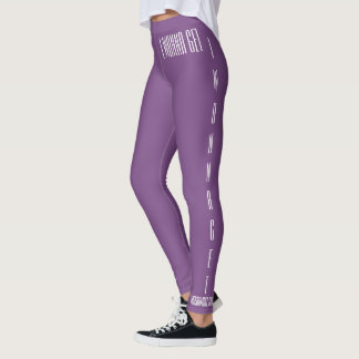 "The Rad Mall ""IWANNAGET"" Womens Athletic Leggings"