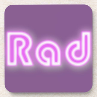 "The Rad Mall ""Rad"" Set of 6 Coasters"