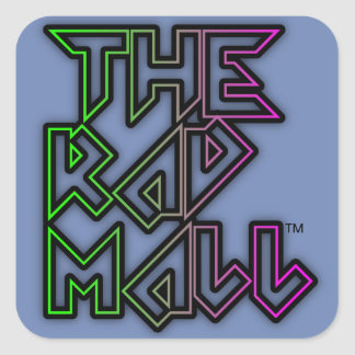 "The Rad Mall ""Rocker"" Logo Small Stickers (Blue)"