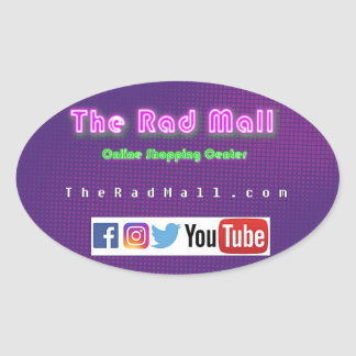 "The Rad Mall ""Website"" Oval Sticker"