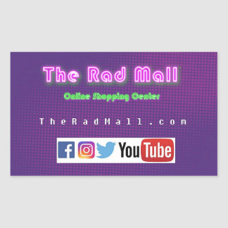 "The Rad Mall ""Website"" Sticker"