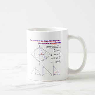 The radius of an inscribed sphere in octahedron coffee mug