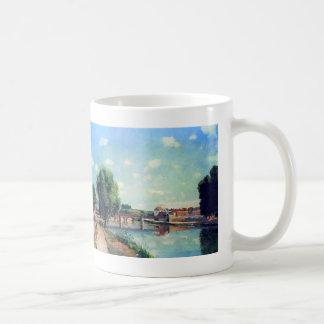 The Railway Bridge, Pontoise by Camille Pissarro Coffee Mug